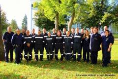 1402_Ausbilder der Polizei und Feuerwehrmitglieder beim Verkehrsreglerlehrgang